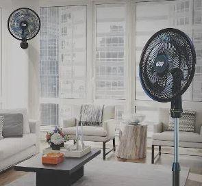 Sala com ventiladores