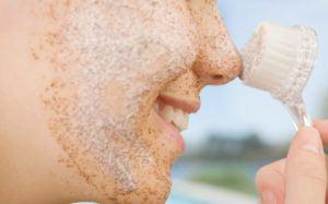 Esfoliação no rosto