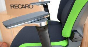 Regulagens dos braços da cadeira gamer