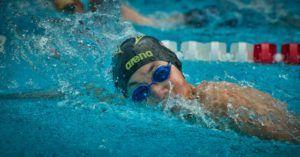competição de natação